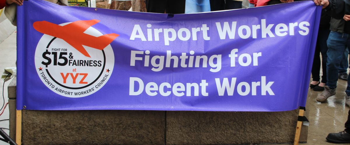 IAM celebrates May Day with airport demo against privatization