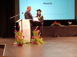 IAM scholarship award presented at graduation ceremony