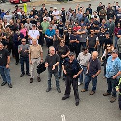 IAM Local Lodge 11 workers locked out by Avcorp Industries in Delta, B.C.
