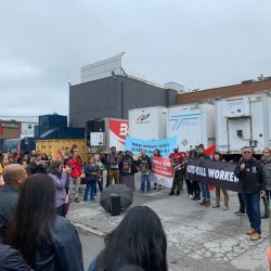IAM Protests another needless death at Fiera Foods