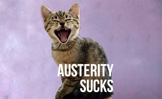 Austerity Sucks! There, I said it.