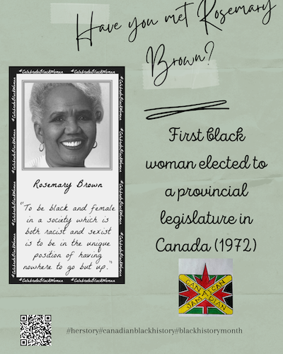 ROSEMARY BROWN - Black History Month Posters from IAM Local 2323
