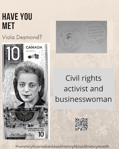 VIOLA DESMOND - Black History Month Posters from IAM Local 2323