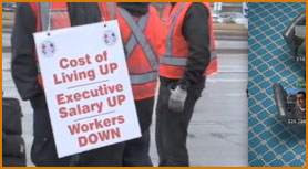 Machinists Show their Displeasure with Air Canada!